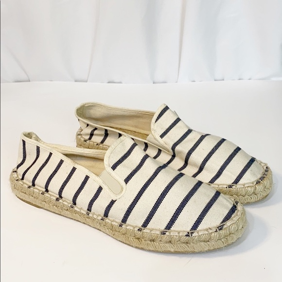 J. Crew Shoes - J Crew Canvas Espadrille Striped 11 Cruise